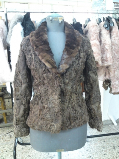 Natura astrakhan paws with mink collar No. 42 cm 320 $