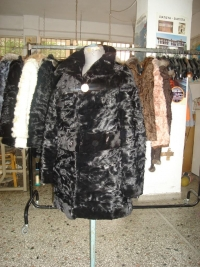 Black lamb paws Persian with mink and sheared mink collar No 42-70cm (waisted) 400 $