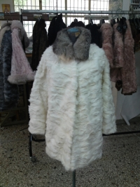 Paws white  baby lamb with fox collar No 42-90 cm 380 $